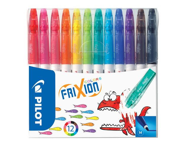 FIBERPEN PILOT FRIXION COLOR 12-PACK