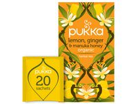 TE PUKKA LEM GINGER MANUKA HONEY 20/PK
